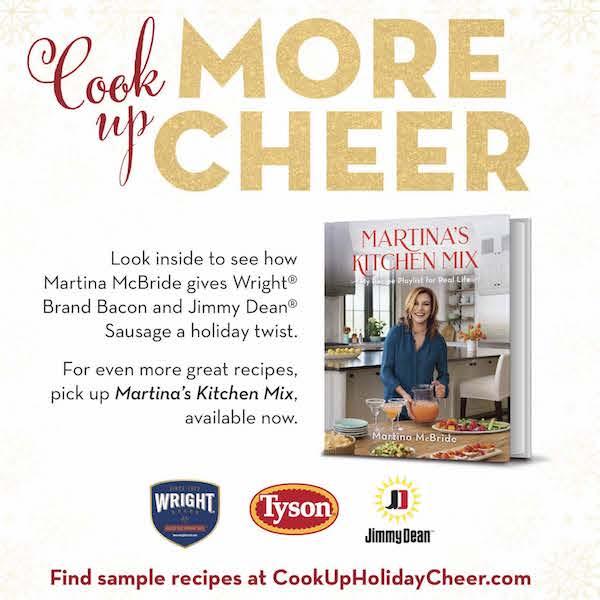 Tyson Foods advertorial for exclusive Walmart-edition of Martina McBride's Holiday Cookbook